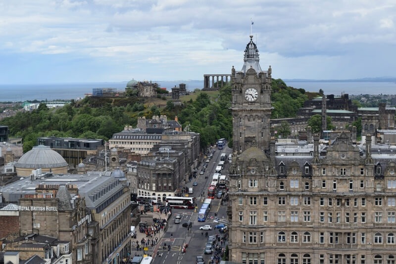 View from the Scott Monument Edinburgh