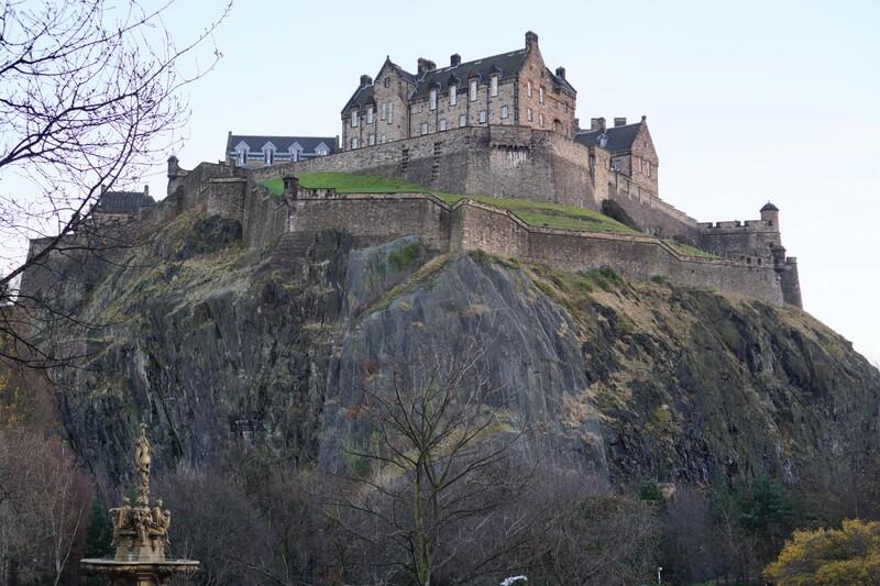 Princes Street Gardens Edinburgh Castle