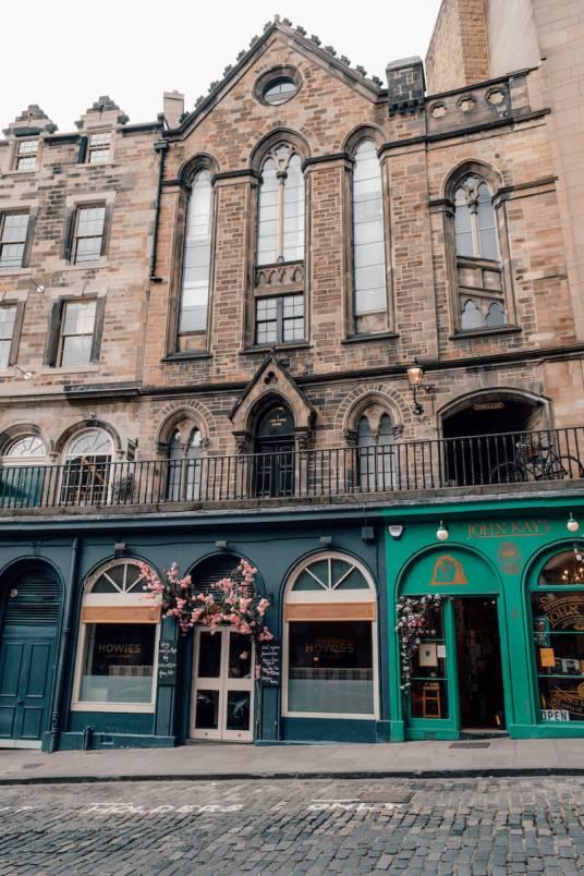 Colourful storefront on Victoria Street in Edinburgh, Scotland