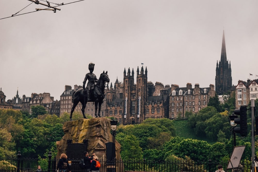 Statue in Princes Street Gardens, Edinburgh