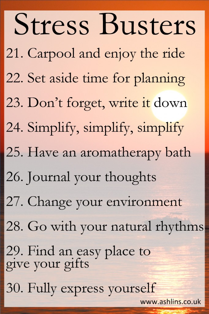 10 tips for beating stress