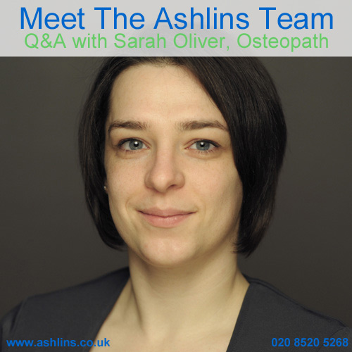 Meet the Team: Q&A with Sarah, Osteopath