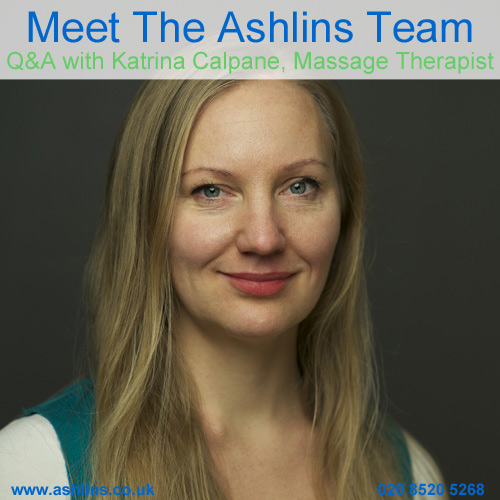 Meet the Team, Katrina, Massage Therapist at Ashlins in Walthamstow