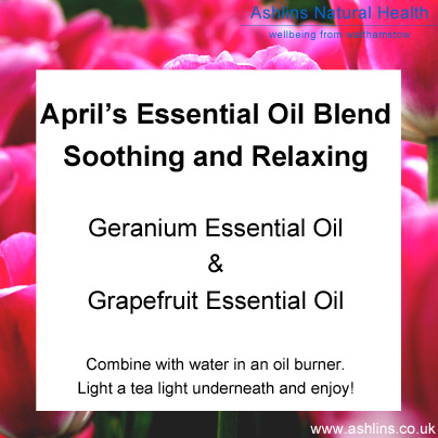 Gernanium and grapefruit essential oil blend - for a soothing, relaxing room