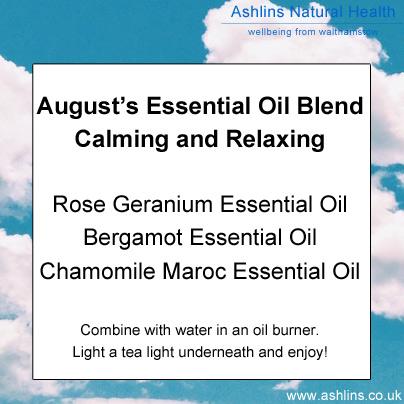 Essential Oil blend, rose geranium, bergamot and chamomile maroc
