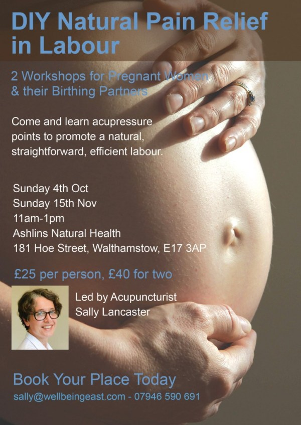 Acupressure for Labour Workshop in Walthamstow