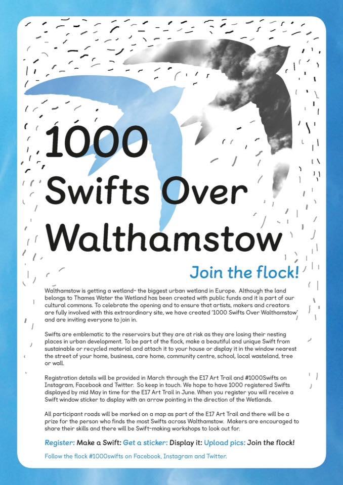 1000 Swifts over Walthamstow, E17 Art Trail