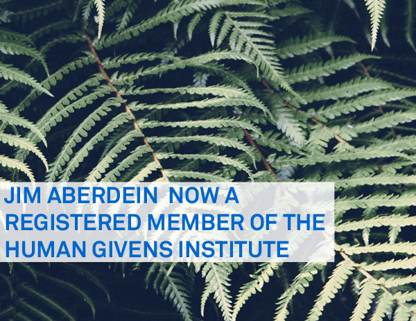 Jim Aberdein achieves full registration status with Human Givens Institute