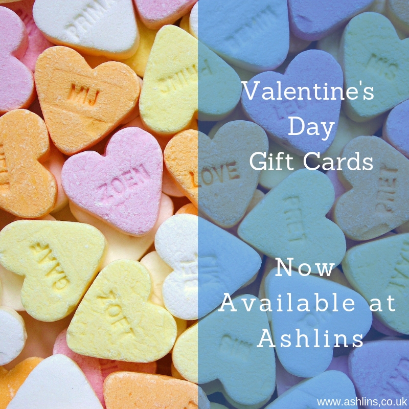 Valentine's Day Gift Cards, now available at Ashlins Natural Health in Walthamstow