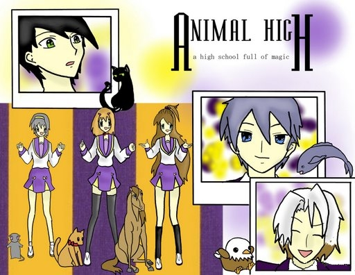 animal high collage