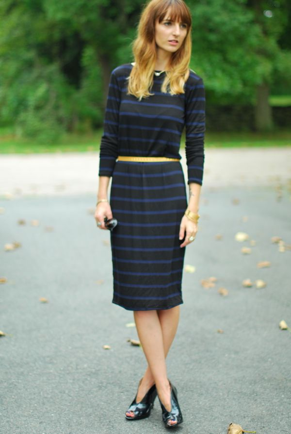 navystripedress