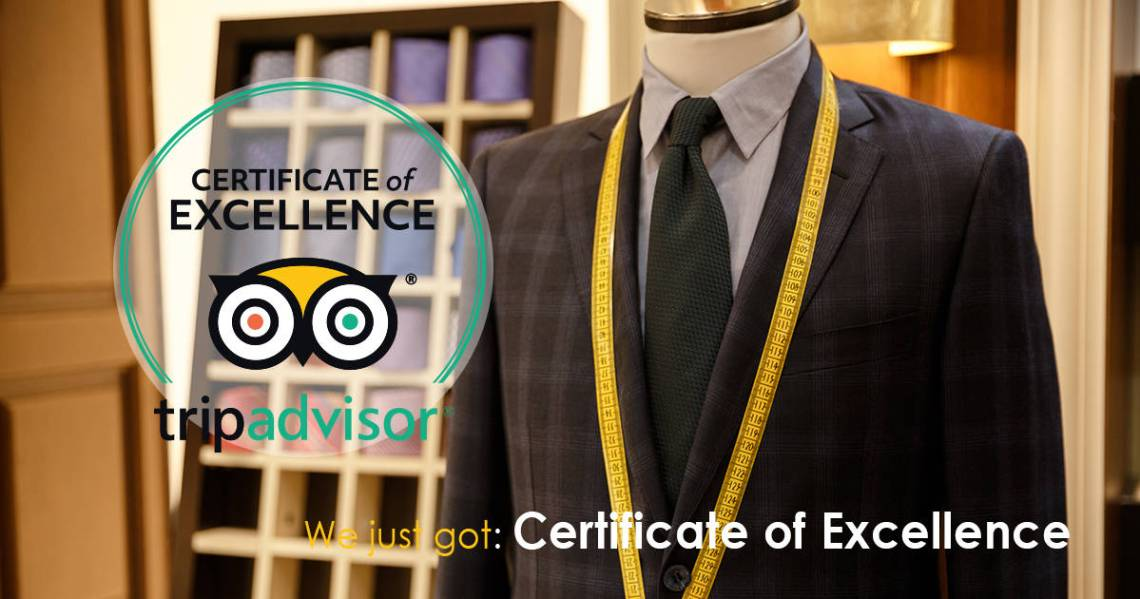 We just got the Certificate of Excellence