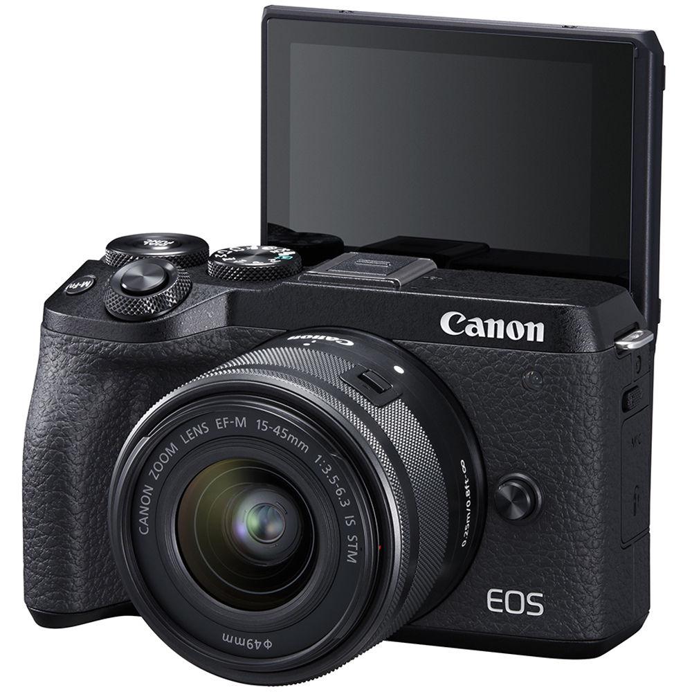 Canon EOS M6 Mark II 15-45 Black