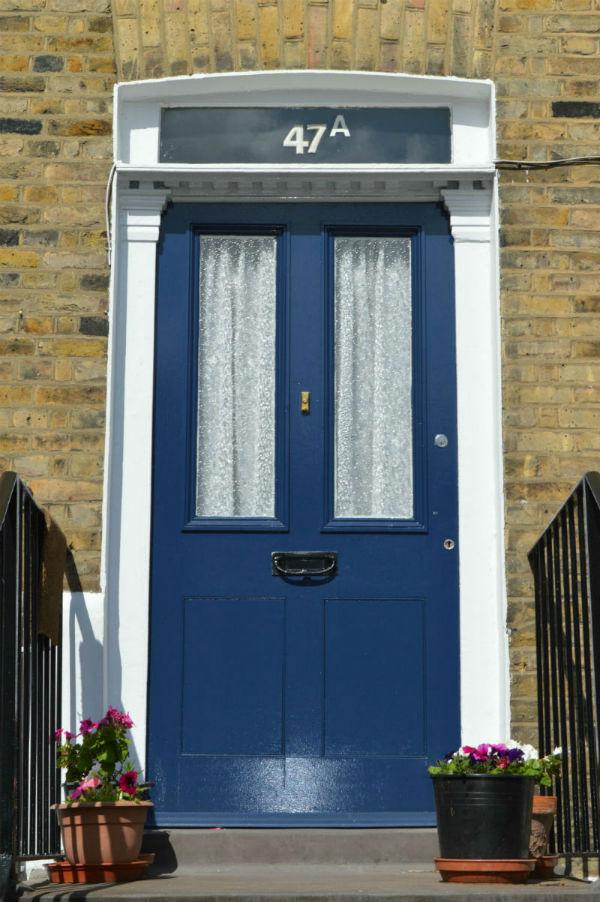 Wooden and Glass Front Door
