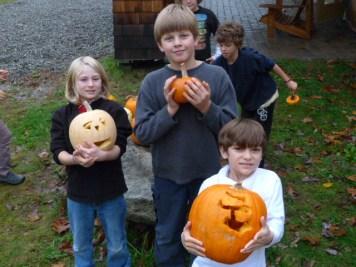 Grade School Pumpkin Carving Day, October 2012