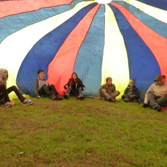 Inside the parachute