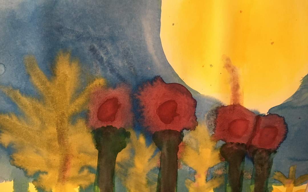 Watercolor Paintings in Grade 1-3