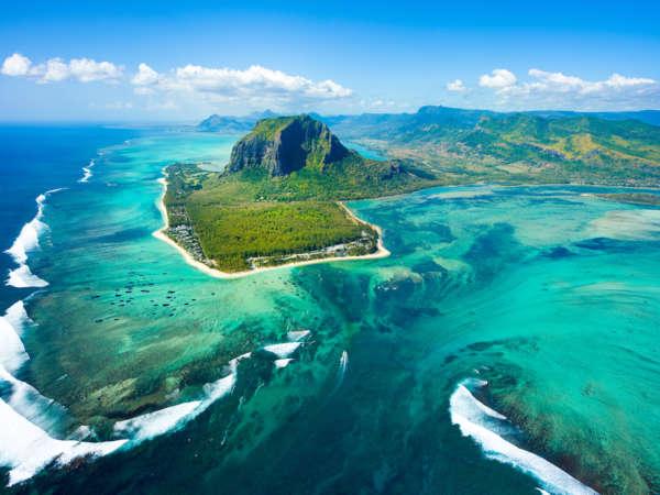 Mauritius Island Panorama And Famous Le Morne Brabant