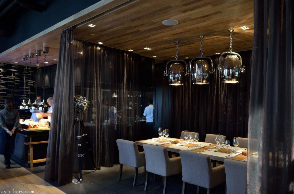 retro kitchen table servers elements- signature restaurant at the okura prestige ...