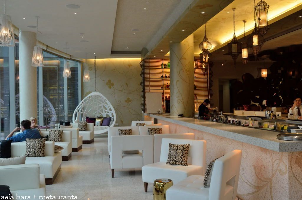 bar height chairs turquoise metal chair woobar- lounge at w singapore sentosa cove | asia bars & restaurants