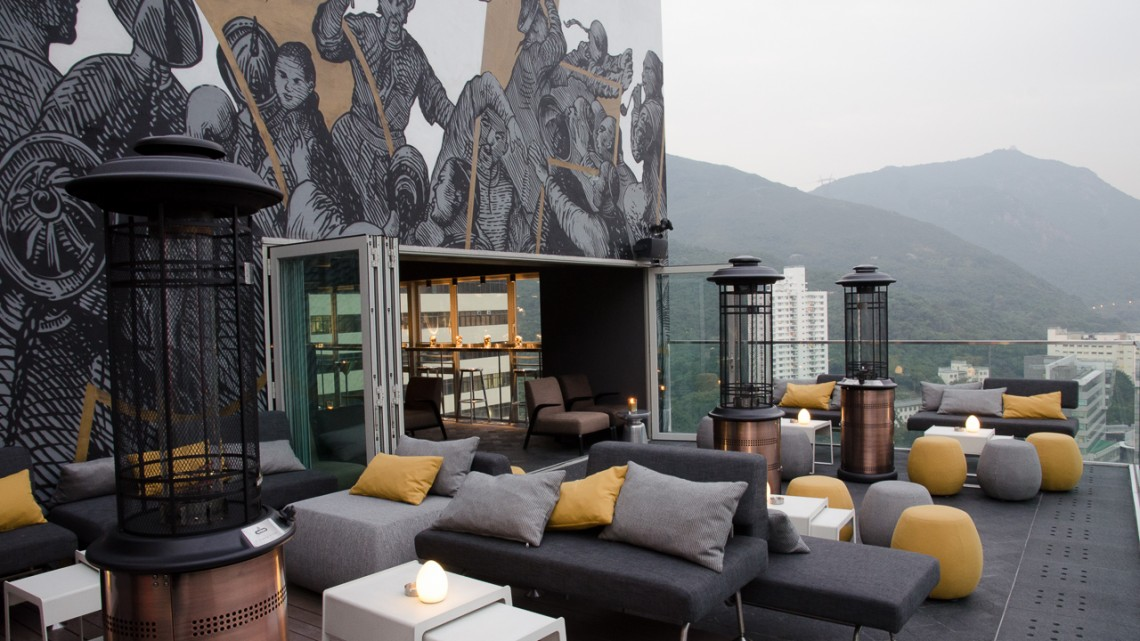 Above – rooftop bar at Ovolo Southside – Hong Kong   Asia Bars & Restaurants