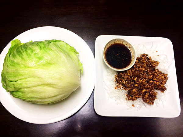 Minced Chicken with Lettece Wrap
