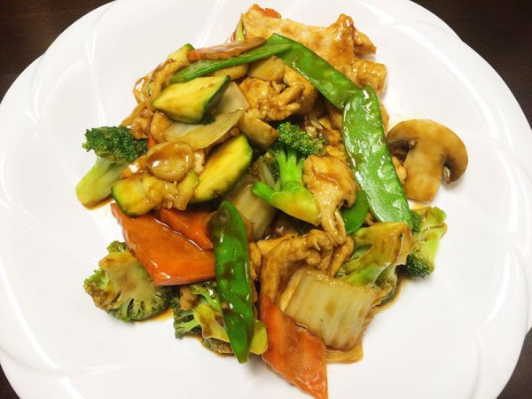 Chicken w. Mixed vegetables - Asia Grill - Chinese Restaurant Peoria IL
