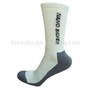 Nano-silver socks with foot support and half cushion, from the Beijing Kuailu Knitting Co., Ltd.