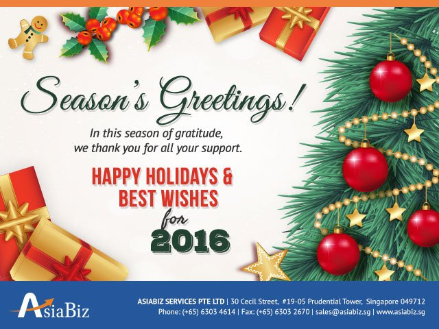 Seasons Greetings From AsiaBiz AsiaBiz Services