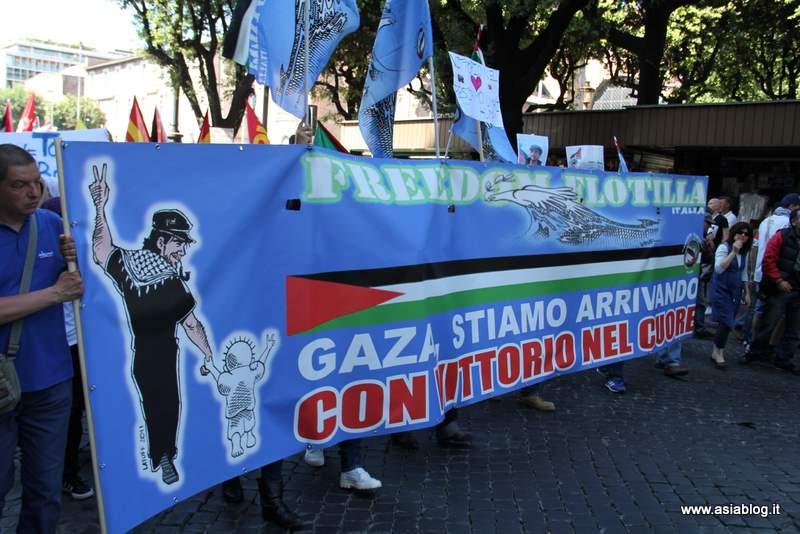 Gaza stiamo arrivando. Foto Alessio Fratticcioli