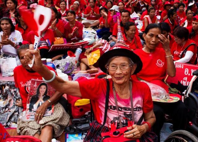 thailandia camicie rosse manifestazione