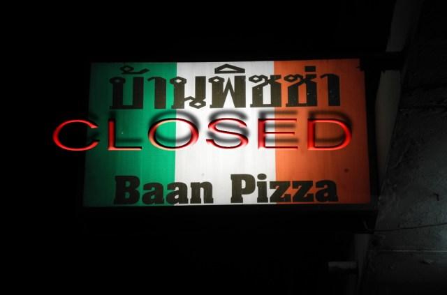 ristorante chiuso