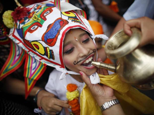 Nepal Festival Gaijatra 2013 photo