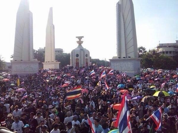 thailand democracy monument protest