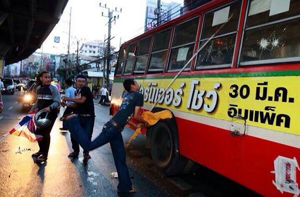thailand bangkok ramkhamheang students bus