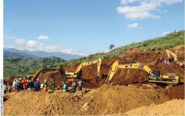 La miniera di Hpakant dove il 23 novembre almeno 113 minatori sono morti sotto una frana - Getty image