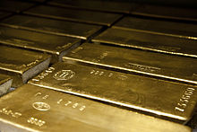 Lingotti d'oro 999,9 da 400 once (Wikipedia)