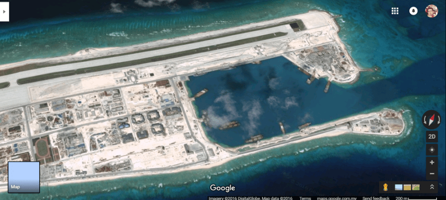 Fiery Cross Reef Spratly Islands South China Sea