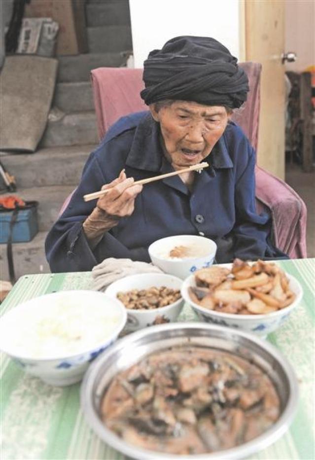 Cina donna centenaria Fu Suqing 119 anni