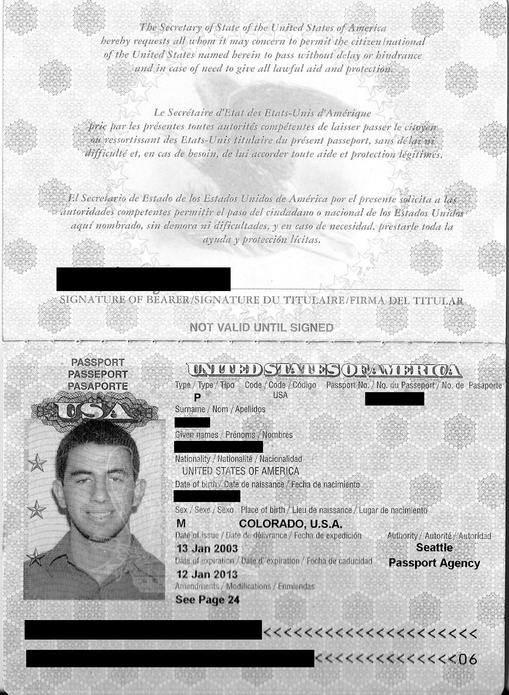 View An Example Passport Picture Page. A Resume In English
