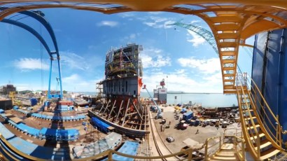 360° TIMELAPSE FOR SHIPYARD FABRICATION