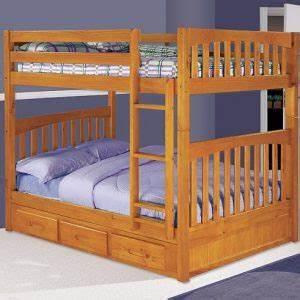 Tempat Tidur Tingkat Jati Laci Minimalis