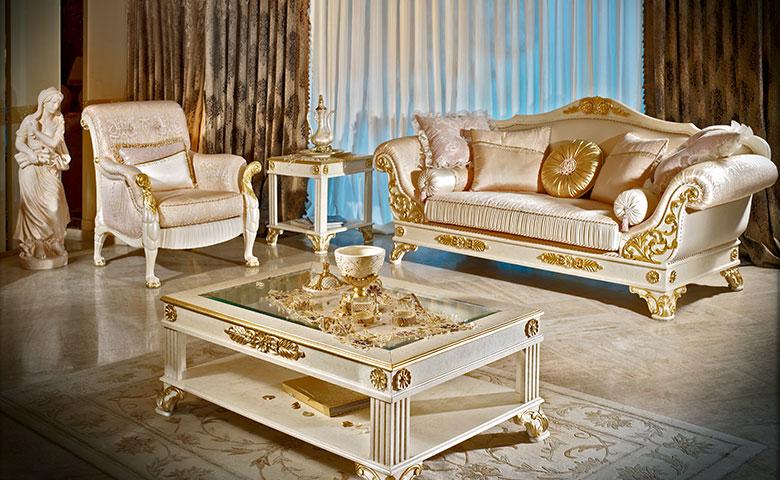 Set Kursi Ruang Tamu Mewah Klasik