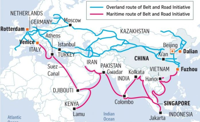 The Belt-and-Road initiative and the rising importance of China's Western  cities - Asiagreen