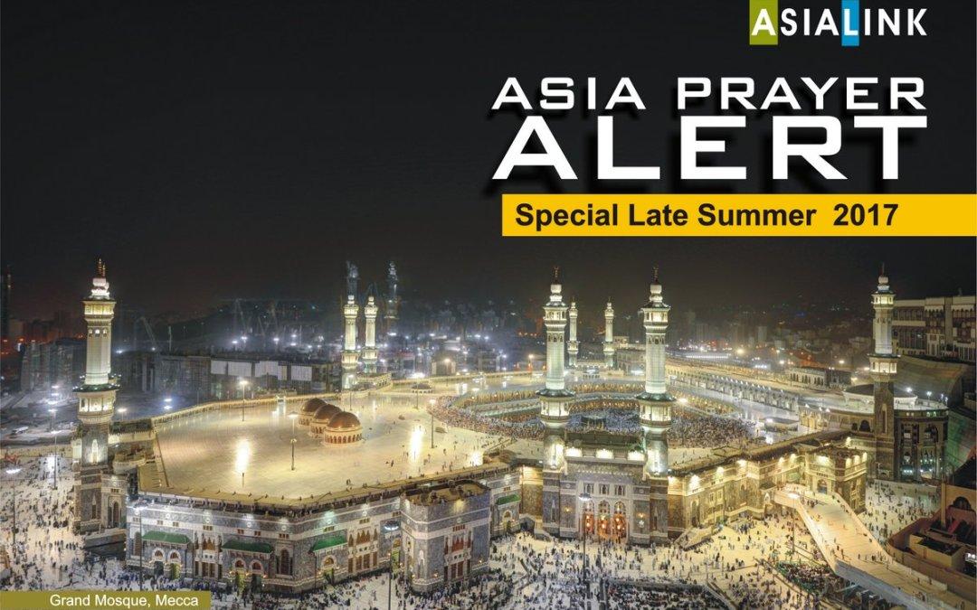 Prayer Alert – Late summer special