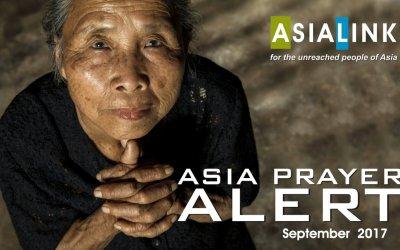 Monthly Prayer Alerts – September 2017