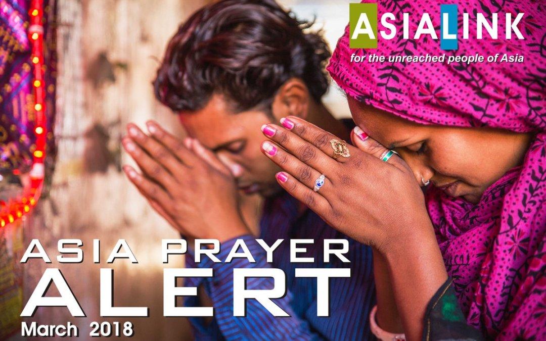 Monthly Prayer Alerts – March 2018