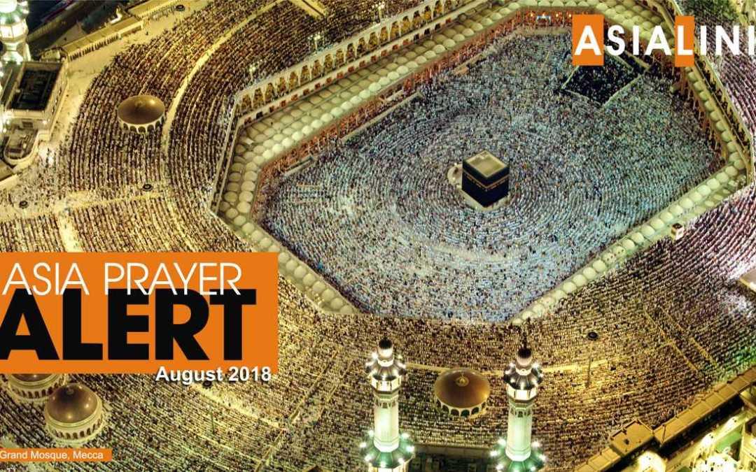 Monthly Prayer Alerts – August 2018