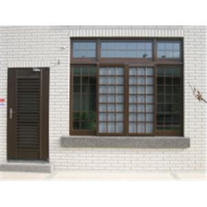鵝牌氣密窗加不銹鋼烤漆3合1功能門工程介紹 編號:14435-君盈金屬有限公司
