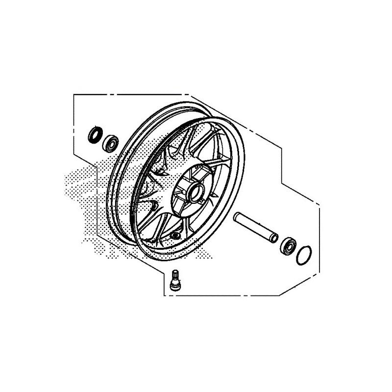 Rear Wheel Honda CMX500 Rebel 2017 42650-K87-A00